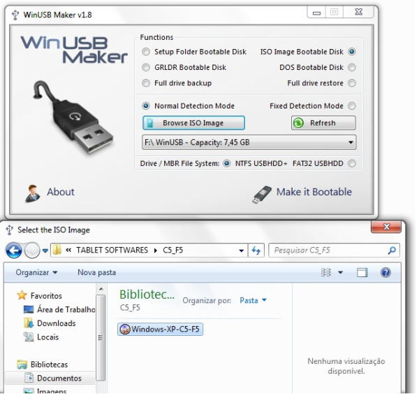 Como instalar windows XP tablet
