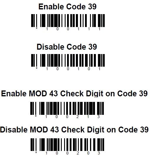 Como habilitar o código 3 de 9 (code 39) no scanner